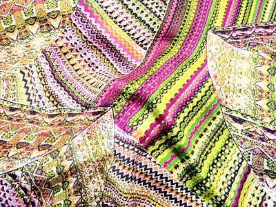 Printed Crepe Fabric - Retro