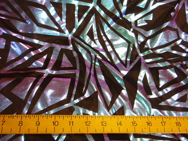 Retro Land - Jersey Foil Fabric