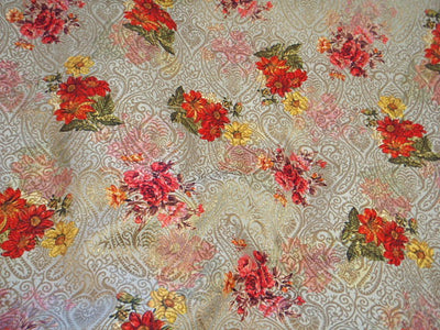 Sage Floral - Digital Printed Brocade