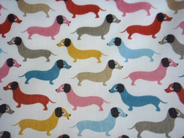 Sausage Dogs - Poly/Cotton Print