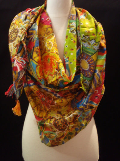 Tropic - Printed Poly Cotton Blend Scarf