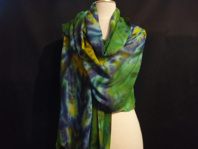 Green/Yellow - Batik Stole