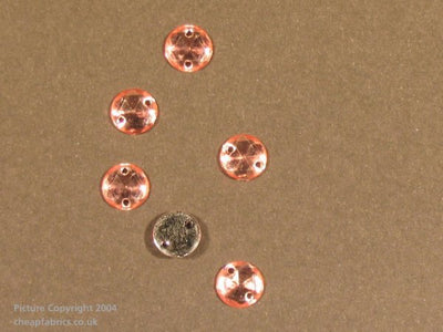 Acrylic Stones Sew On Jewels: Circular - (50pck)
