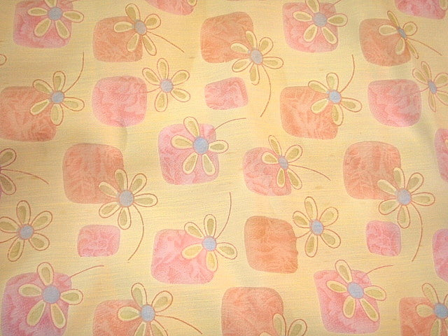 Daisy Floral Printed Voile