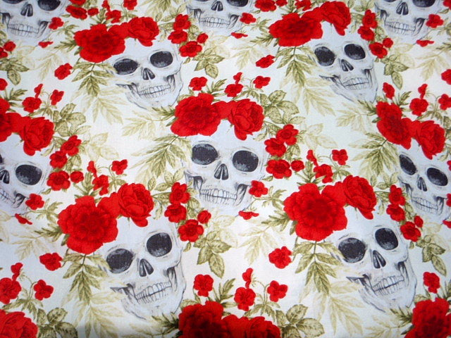Skulls 'n' Roses Part 1 - Cotton Poplin Patchwork