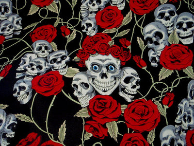 Skulls 'n' Roses Part 2 - Cotton Poplin Patchwork
