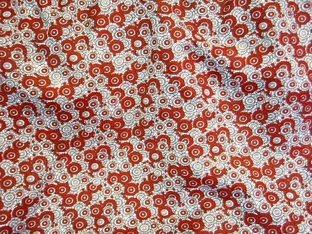 Small Circular Wine Floral - Poly/Cotton Print
