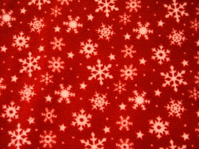 Christmas Snowflakes - Fleece Print