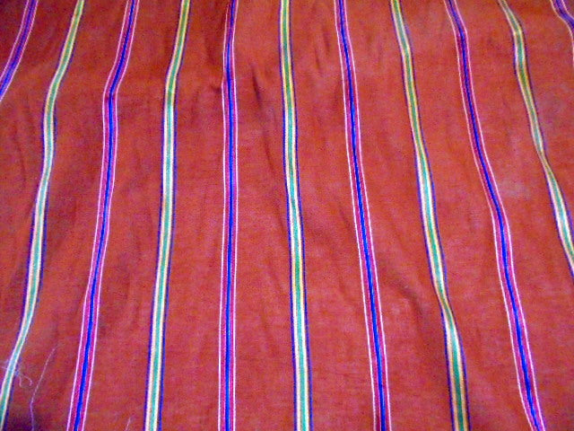 Russet - Cotton Stripe Voile