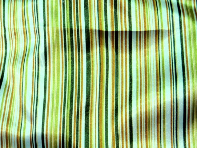 Striped Satin Print