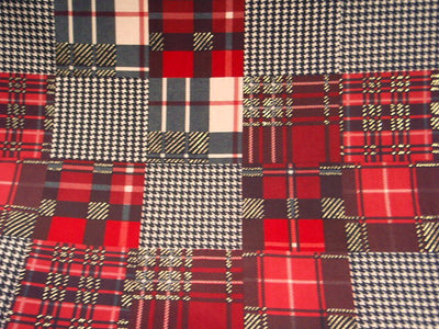 Tartan Houndstooth - 2 way Stretch Jersey