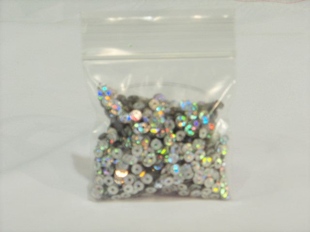 Silver Round Tiny Sew On Sequins / Confetti- 10g Bag