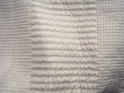 White Embroidered Quilted Fabric