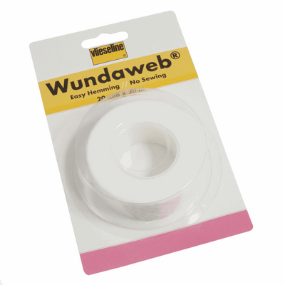 20mm Wide Vilene Wundaweb Easy Hemming Tape Pack