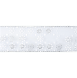Wired Edge Snowflakes Ribbon