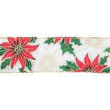 Wired Edge Poinsettia Ribbon