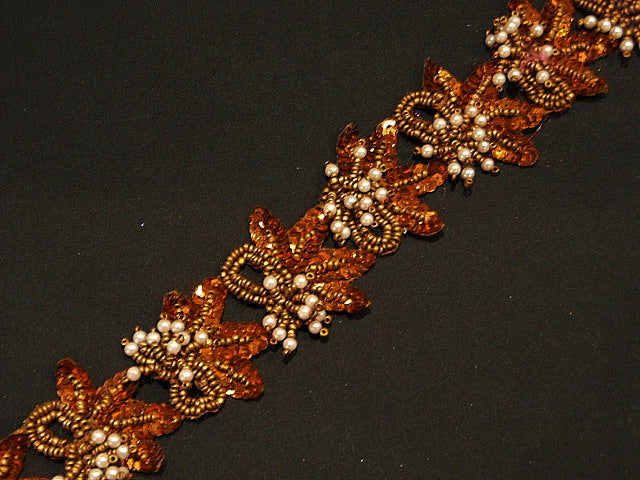 Copper/Bronze - Beaded And Sequin Exclusive Trim