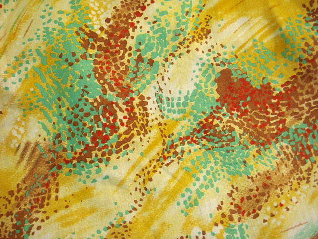 Yellow Paint Abstract - Poly/Cotton Print