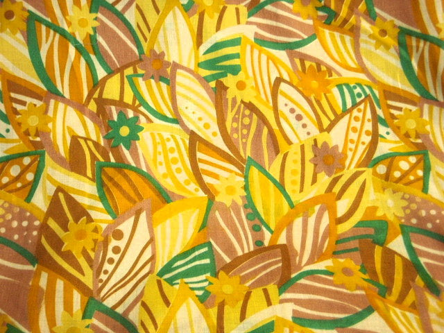 Yellow Floral Garden - Poly/Cotton Print