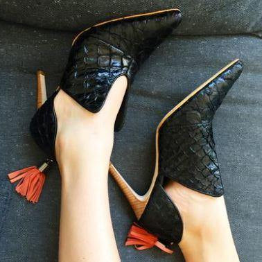 Woman's shoes, fashion and luxury