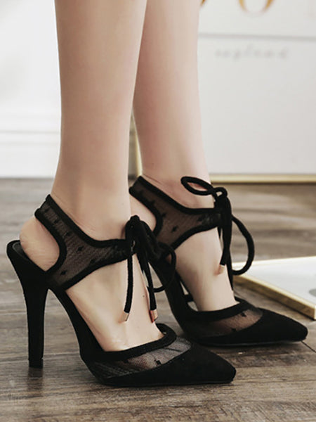 Fashion Pointed Hollow Slim High Heel Sandals