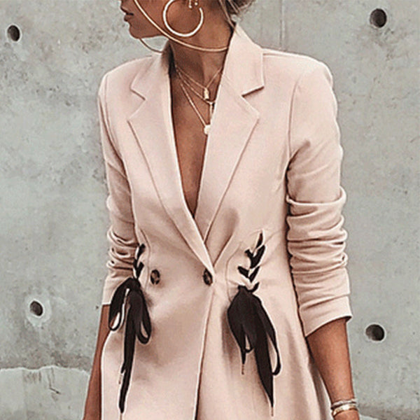 Fashion Cool Plain Blinding Suit Coat