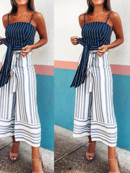 Fashion Casual Stripe Loose Pants