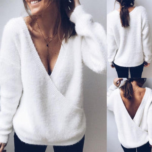 Open Back Two Sexy Sweaters