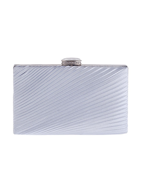 Simplicity Pleats Squared Evening Clutch Bag