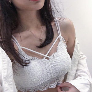 New Lace Wrapped Chest Underwear Female Bottom Anti-Light Beauty Back Bra
