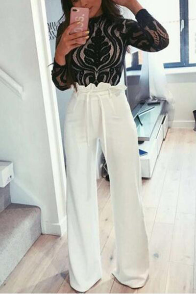 Stylish Plain Casual Pants Jumpsuits