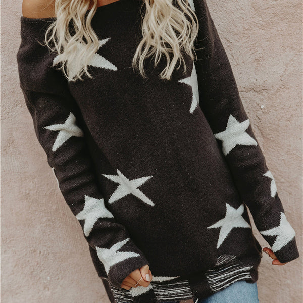 OL Commuter Covered Star Sweater