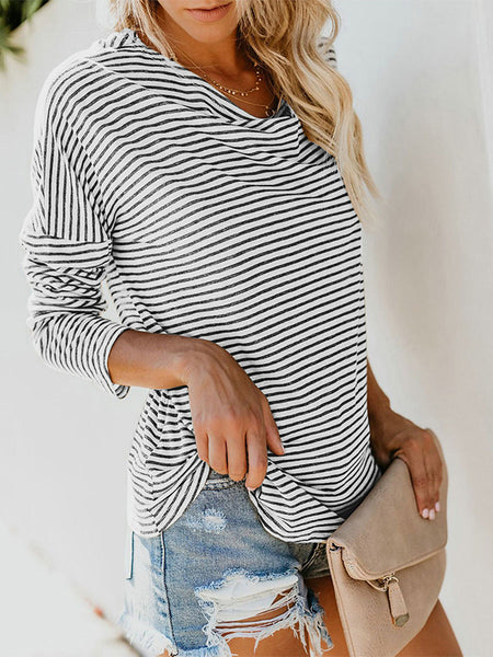 Sexy Stripes Loose Tops Blouses