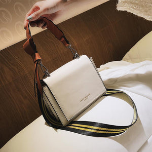Elegant Fashion Casual Rectangle Leather One Shoulder Hand Bag