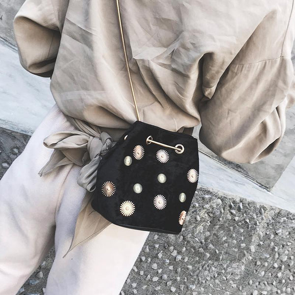 Fashion Retro Suede Bucket One Shoulder Bag