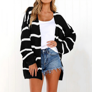Striped Pocket Cardigans