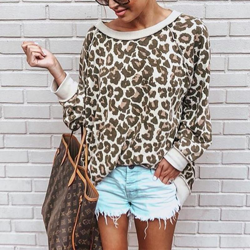 Fashion Leopard Print Long Sleeve T-Shirt