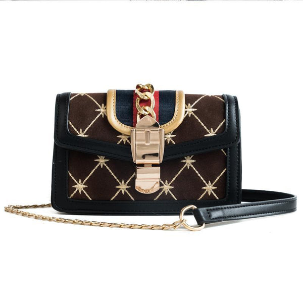Chic Lady Elegant Leather Chain One Shoulder Hand Bag