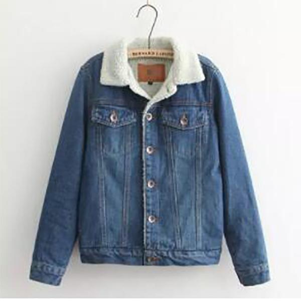 Nifty Casual Chic Plain Long Sleeve Denim Jacket Cardigan