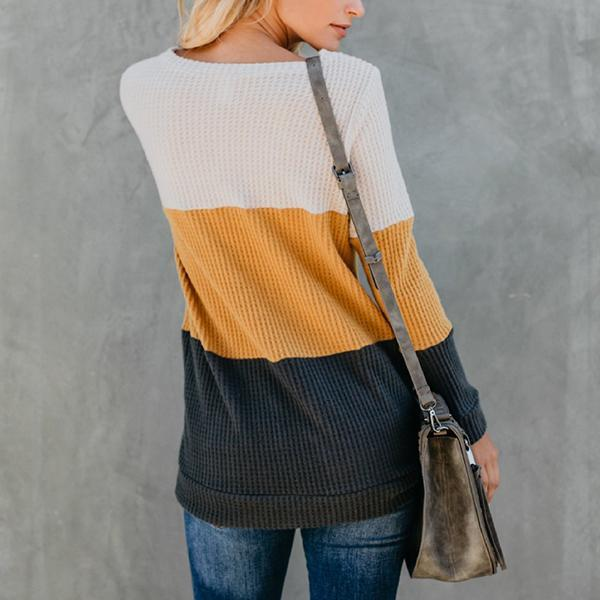 Fashion Color Blocking Sweater