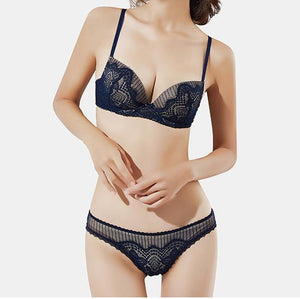 Sexy Gathering Lace Underwear Set