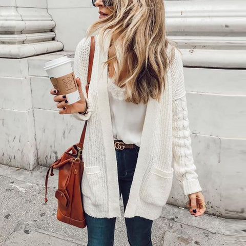 Women's Long Sleeve Cardigan Sweater