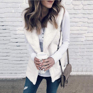 Plush Sweater Casual Fur Vest