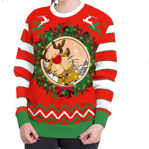 Fashion Christmas 3D Digital Printing Sweater