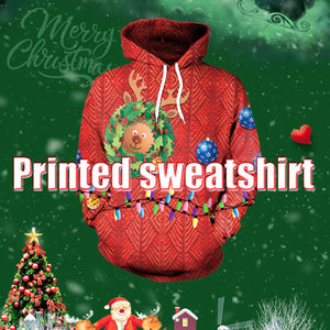Fashion Christmas Pattern 3D Printing Hoodie