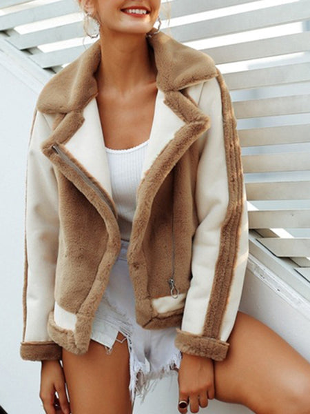 Fashion Faux Fur Warm Plush Jacket