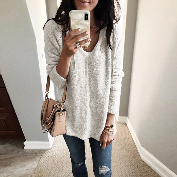 Winter Hooded Plush Top Sweater
