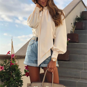 Fashion Bow Long Sleeve Shirt