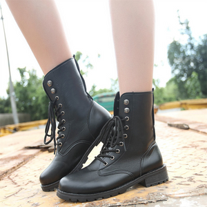 Street Pure Color Frenulum Martin Boots