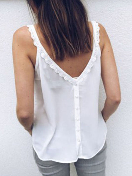 V-Neck Lace Stitching Camisole Can Be Worn Before And After T-Shirts
